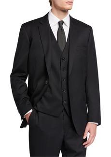 Neiman Marcus Men's Vested Three Piece Modern Fit Suit
