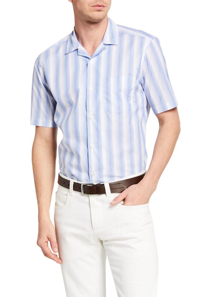 Neiman Marcus Men's Vintage Stripe Sport Shirt