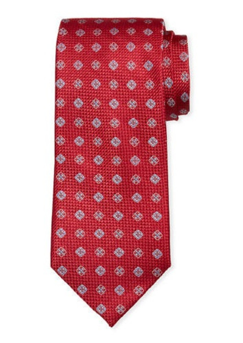 Neiman Marcus Men's Willtown Neat Silk Tie