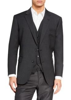 Neiman Marcus Men's Wool Modern Fit Three-Piece Vested Suit