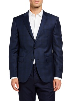 Neiman Marcus Men's Wool Plaid Sport Coat