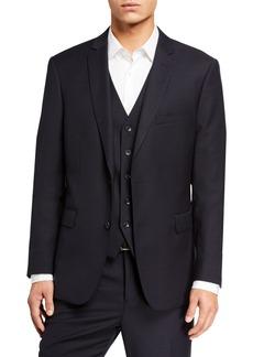 Neiman Marcus Men's Wool Slim Fit Three-Piece Vested Suit