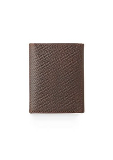 Neiman Marcus Men's Woven Leather Tri-Fold Wallet