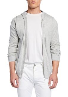 Neiman Marcus Men's Zip-Front Hoodie