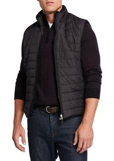 Neiman Marcus Men's Zip-Front Puffer Vest