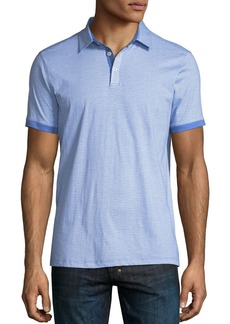 Neiman Marcus Mini-Dot Jersey Polo Shirt