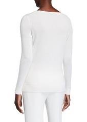 Neiman Marcus Modern Crewneck Cashmere Sweater