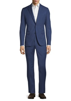 Neiman Marcus Modern Fit Two-Piece Wool Suit