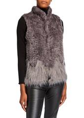 Neiman Marcus Multi Faux-Fur Vest