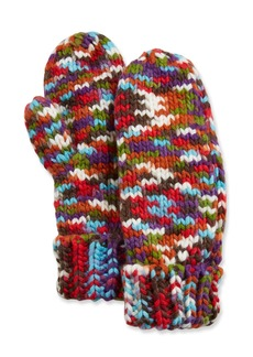 Neiman Marcus Multicolor Mittens w/ Faux-Sherpa Lining