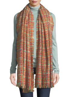 Neiman Marcus Multicolored Fringe Blanket Scarf