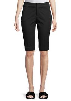 "Neiman Marcus 13"" Stretch-Cotton Walking Shorts"