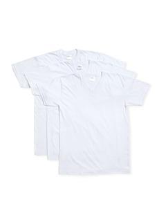 Neiman Marcus 3-Pack Mercerized Cotton V-Neck T-Shirts