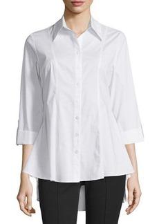 Neiman Marcus 3/4-Sleeve Swing Blouse