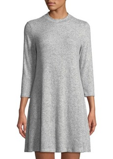 Neiman Marcus 3/4-Sleeve Trapeze Dress