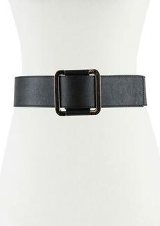 Neiman Marcus 52mm Faux-Leather Belt w/ Sliding Buckle