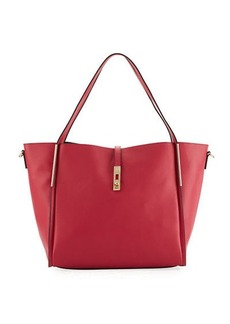 Neiman Marcus Abigail Slouchy Faux-Leather Hobo Tote Bag