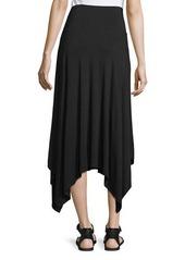 Neiman Marcus Long Handkerchief-Hem Knit Skirt