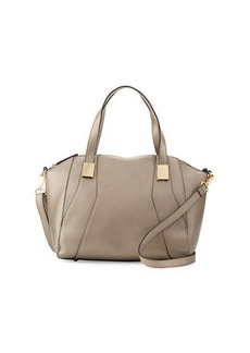 Neiman Marcus Adele Grained Satchel Bag