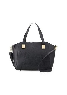 Neiman Marcus Adele Grained Satchel Bag