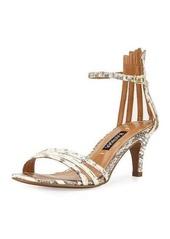Kay Unger New York Kay Unger Adella Snakeskin Multi-Strap Sandal