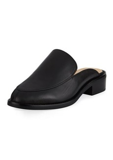 Neiman Marcus Ailey Napa Leather Slide Mule