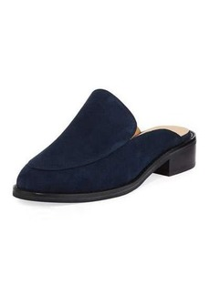 Neiman Marcus Ailey Suede Slide Loafer Mule