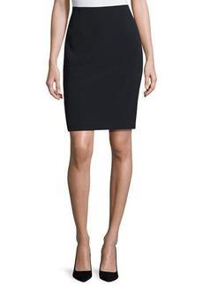 Neiman Marcus Aleena Crepe Pencil Skirt