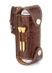 Neiman Marcus Alligator-Embossed Leather Golf Ball Case