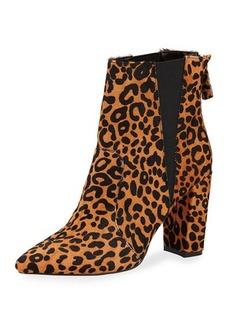 Neiman Marcus Allure Chunky-Heel Bootie