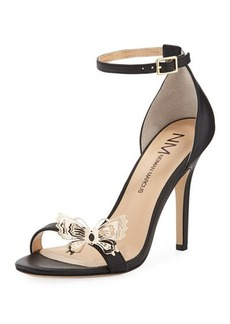 Neiman Marcus Anatteria Leather Butterfly Pump