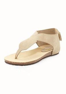 Neiman Marcus Arya Suede Thong Sandal