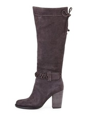 Neiman Marcus Avette Braided Suede Boot