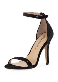 Neiman Marcus Baicho High-Heel Velvet Sandal