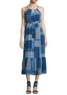 Neiman Marcus Beaded-Tassel Maxi Dress