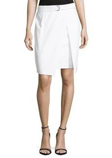 Neiman Marcus Belted Cutaway Skirt