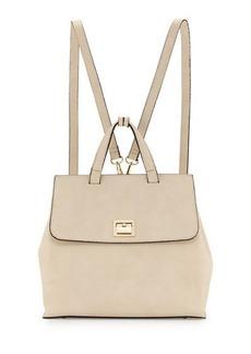 Neiman Marcus Bess Flip-Lock Faux-Leather Backpack