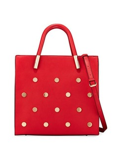 Neiman Marcus Betsy Round-Stud Tote Bag