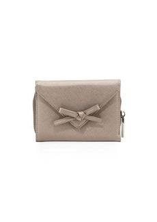 Neiman Marcus Bow Envelop Flap Wallet