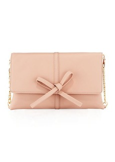 Neiman Marcus Bow Flap-Over Clutch Bag