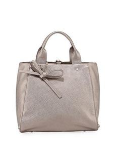 Neiman Marcus Bow Saffiano Large Satchel Bag