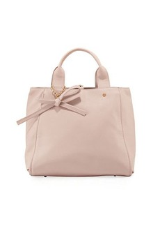 Neiman Marcus Bow Saffiano Large Satchel Bag