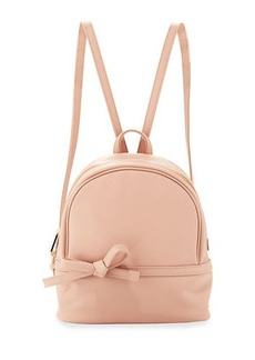 Neiman Marcus Bow Saffiano Small Backpack