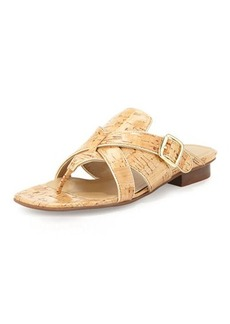 Neiman Marcus Braden Crisscross Leather Sandal