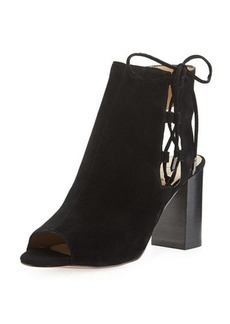 Neiman Marcus Bryana Lace-Up City Sandal
