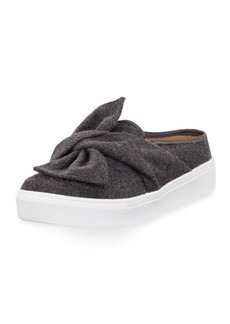 Neiman Marcus Camran Knotted Flannel Slide Sneaker