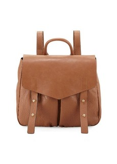 Neiman Marcus Cargo Pebbled Faux-Leather Backpack