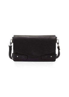 Neiman Marcus Cargo Pebbled Faux-Leather Crossbody Bag