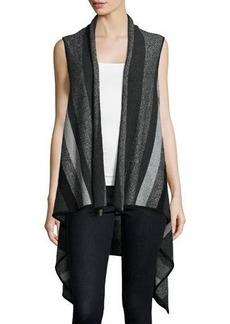 Neiman Marcus Cascade Striped Cashmere Vest
