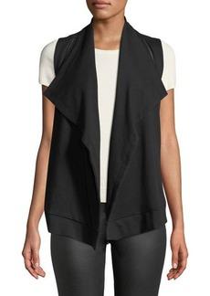 Neiman Marcus Cascading Zipper-Trim Vest